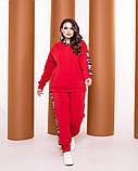 Теплый спортивный костюм турецкая трехнить батник с капюшоном штаны размер от 52 до 62, фото 3