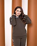 Теплый спортивный костюм турецкая трехнить батник с капюшоном штаны размер от 52 до 62, фото 5