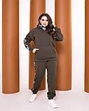 Теплый спортивный костюм турецкая трехнить батник с капюшоном штаны размер от 52 до 62, фото 6