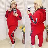 Теплый спортивный костюм турецкая трехнить батник с капюшоном штаны размер от 52 до 62, фото 7
