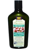 Avalon Organics, Шампунь, с чайным деревом для кожи головы, 11 жидких унций (325 мл)