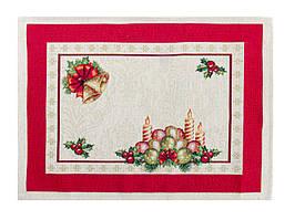 Салфетка на стол гобеленовая Новогодняя 45 х 35 см 716-156