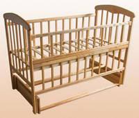 Детская кроватка Наталка с маятником и откидной боковушкой 61031 *бр