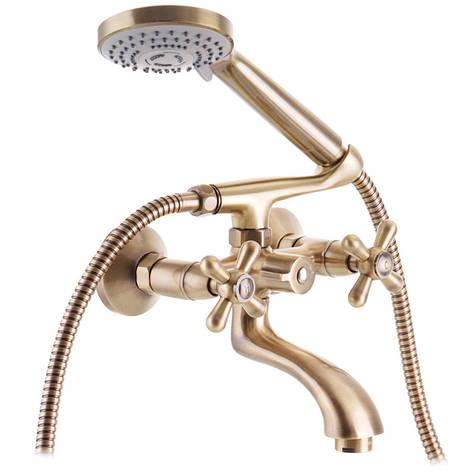 Смеситель для ванны HAIBA DOMINOX 142 EURO Бронзовый (HB3938), фото 2