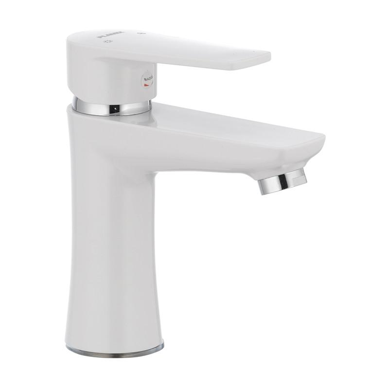 Змішувач для умивальника PLAMIX Oscar-001 білий (без підводки) (PM0022)