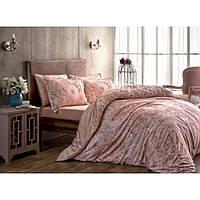 Постельное белье Тас сатин Digital - Blanche pembe розовый семейное