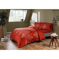 Постельное белье Тас сатин Digital - Caledon kirmizi красный семейное