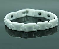 Оптом керамические белые браслеты с магнитами. 512