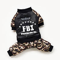 Комбинезон для собак FBI. Одежда для собак.