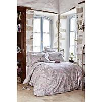 Постільна білизна Karaca Home ранфорс - Akina gri сірий євро (ПВХ)