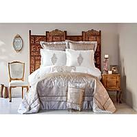 Постельное белье Karaca Home Privat - Alessia bakir бежевый сатин евро