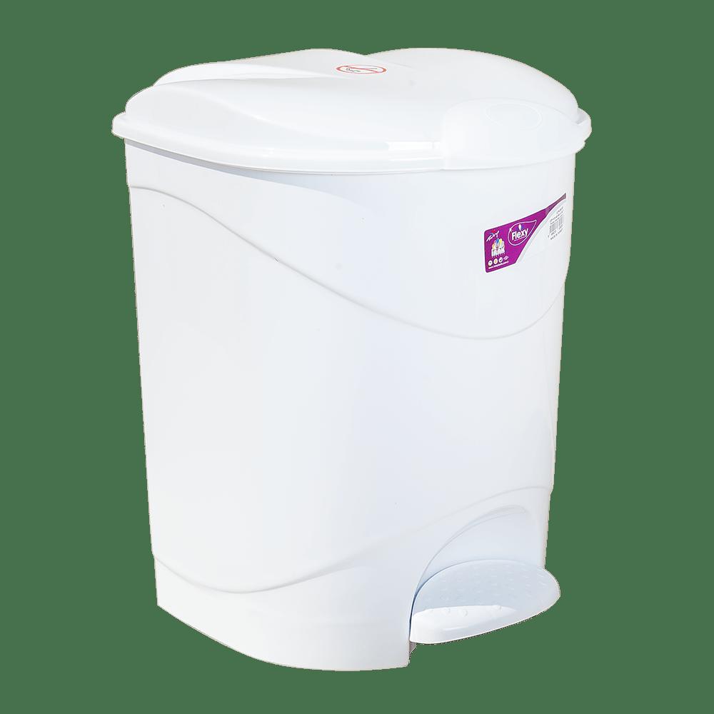 Відро для сміття з педаллю Irak Plastik Bella №2 19л біле