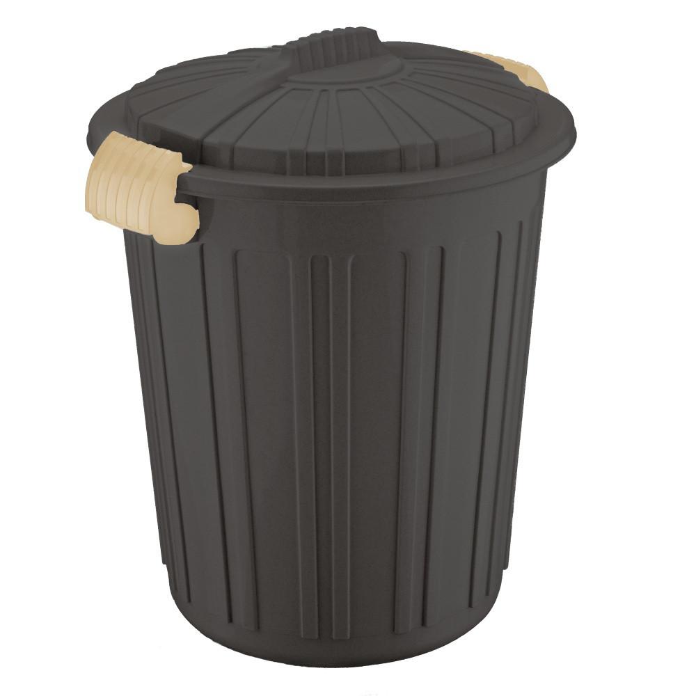 Бак для сміття Irak Plastik Luxury № 5 Herkul 73 л шоколад