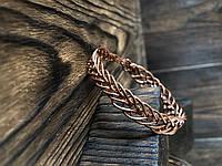 Мідний медичний плетений браслет Грація