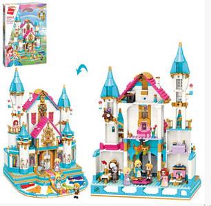 Ігровий конструктор для дівчинки Qman 32015 Палац принцеси з меблями та фігурками (1169 деталей)