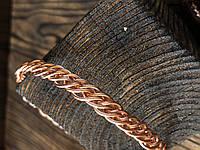 Мідний медичний плетений браслет Гармонія