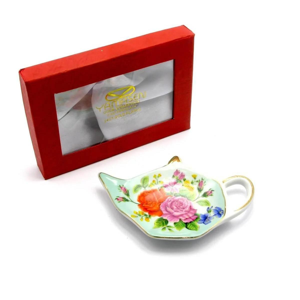 Подставка для чайных пакетиков фарфоровая Цветочная фантазия
