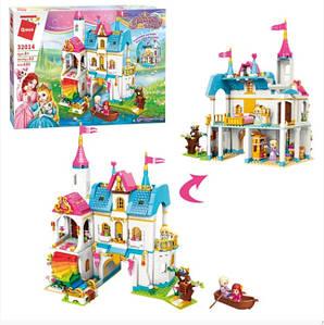 """Дитячий ігровий конструктор для дівчинки Qman 32014 """"Замок принцеси"""" з меблями та фігурками (605 деталей)"""