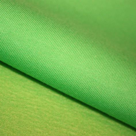 Футер трехнитка Penye на флісі, зелений неон, з начосом, купити оптом, Україна, фото 2