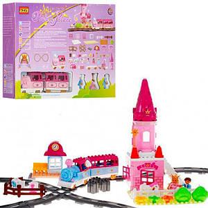 Дитячий конструктор Limo Toy M 0444 U/R Залізниця зі звуковими і світловими ефектами (84 деталі)