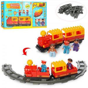 Дитячий ігровий конструктор залізниця зі звуковими ефектами JIXIN M 0440 U/R (6188D), (36 деталей)