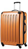 Пластиковый чемодан-гигант 4-колесный дорожный 130 л. HAUPTSTADTKOFFER alex maxi orange оранжевый