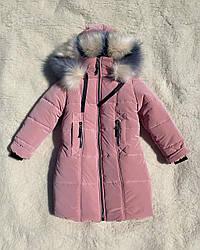 Детское зимнее пальто на девочку красивое размеры 116-152