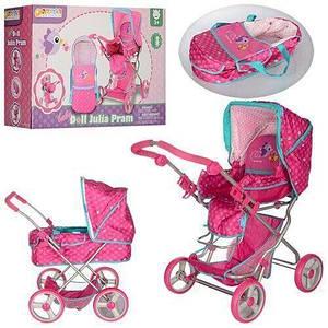 Прогулянкова іграшкова коляска-трансформер для ляльок і пупсів Hauck D-86622 (78*43*50 см)