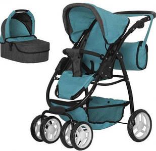 Складна коляска з сумкою, прогулянковим блоком і люлькою MELOBO 9662-1 MIDDLE BLUE 2в1 CARRELLO AVANTI, блакитна
