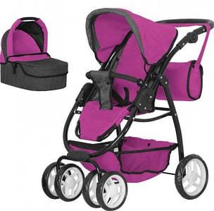 Прогулянкова коляска для ляльок і пупсів з люлькою і сумкою MELOBO 9662-3 ROSE RED 2в1 CARRELLO AVANTI,