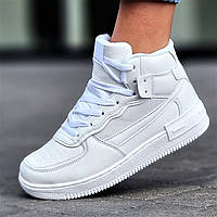 Жіночі зимові кросівки білі теплі (4951)