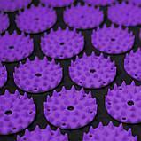 Коврик акупунктурный с валиком SportVida Аппликатор Кузнецова 66 x 40 см SV-HK0408 Black/Violet, фото 3