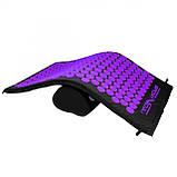Коврик акупунктурный с валиком SportVida Аппликатор Кузнецова 66 x 40 см SV-HK0408 Black/Violet, фото 9