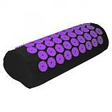 Коврик акупунктурный с валиком SportVida Аппликатор Кузнецова 66 x 40 см SV-HK0408 Black/Violet, фото 10