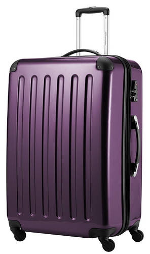 4-колесный практичный дорожный чемодан-гигант 130 л. HAUPTSTADTKOFFER alex maxi violet фиолетовый
