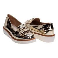 Женские блестящие туфли лоферы с кисточками