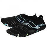 Обувь для пляжа и кораллов (аквашузы) SportVida SV-GY0005-R37 Size 37 Black/Blue, фото 6