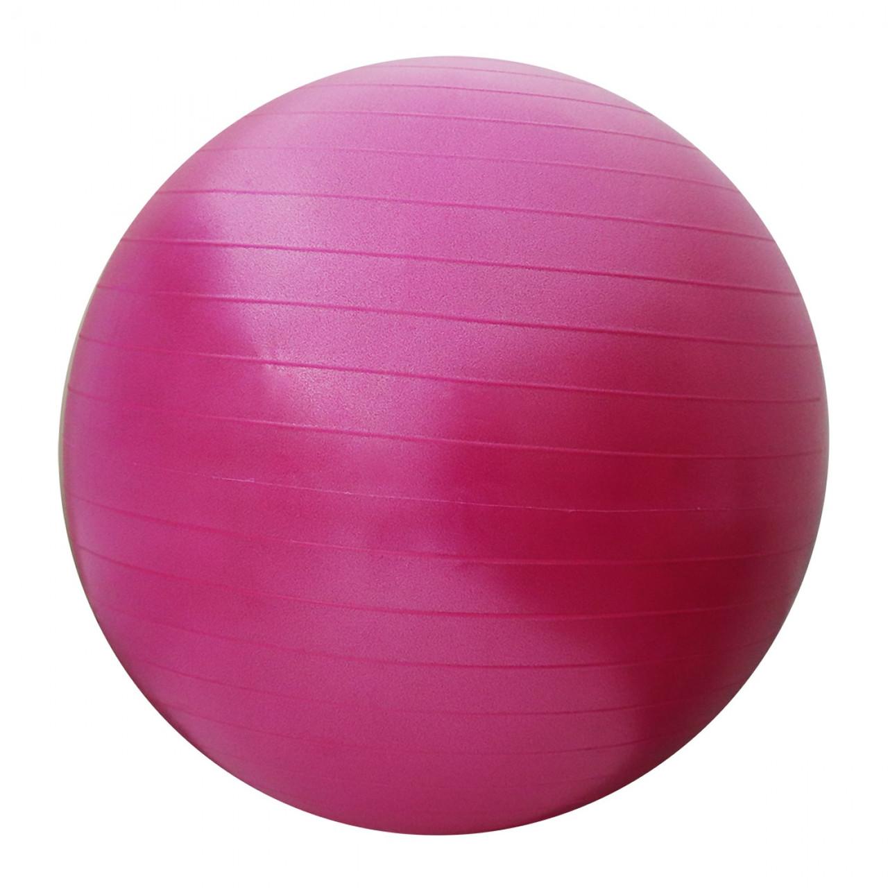 М'яч для фітнесу (фітбол) SportVida 55 см Anti-Burst SV-HK0287 Pink