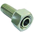 Фитинг (ниппель) Ду.12 DKOL (M22x1,5) накидная гайка, прямой М22х1,5 (уплотнение конус с кольцом) под ключ 27