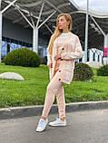 Жіночий спортивний в'язаний костюм трійка, (Туреччина); Розміри:універсальний (46-48-50-52); 4 кольори на фото., фото 7