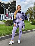 Женский спортивный вязаный костюм тройка, (Турция); Размеры:универсальный (46-48-50-52); 4 цвета на фото., фото 8