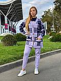 Женский спортивный вязаный костюм тройка, (Турция); Размеры:универсальный (46-48-50-52); 4 цвета на фото., фото 9