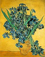 Вертикальная картина по номерам на холсте Ирисы в вазе худ. Гог, Винсент ван 40 х 50 см KH2013