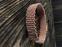 Мідний плетений медичний браслет Макраме
