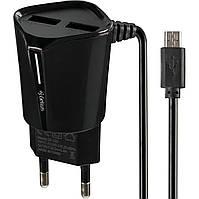 Сетевое зарядное устройство Gelius 2USB 2.4A + кабель micro usb