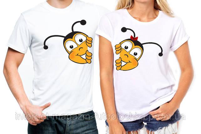 """Парные футболки """"Пчёлы"""", фото 2"""