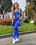 Жіночий спортивний в'язаний костюм трійка, (Туреччина); Розміри:універсальний (46-48-50-52); 4 кольори на фото., фото 2
