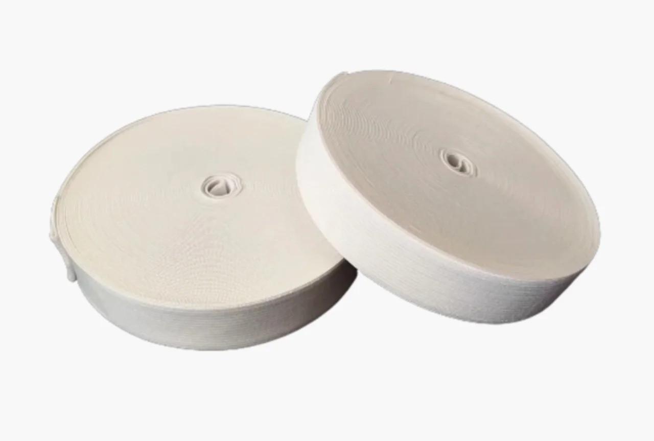 Білизняна гумка широка біла 2,5 см 2 шт