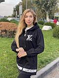 Женский брендовый спортивный костюм (Турция); разм S M L XL, ткань двунитка, цвет черный., фото 2