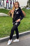 Женский брендовый спортивный костюм (Турция); разм S M L XL, ткань двунитка, цвет черный., фото 4